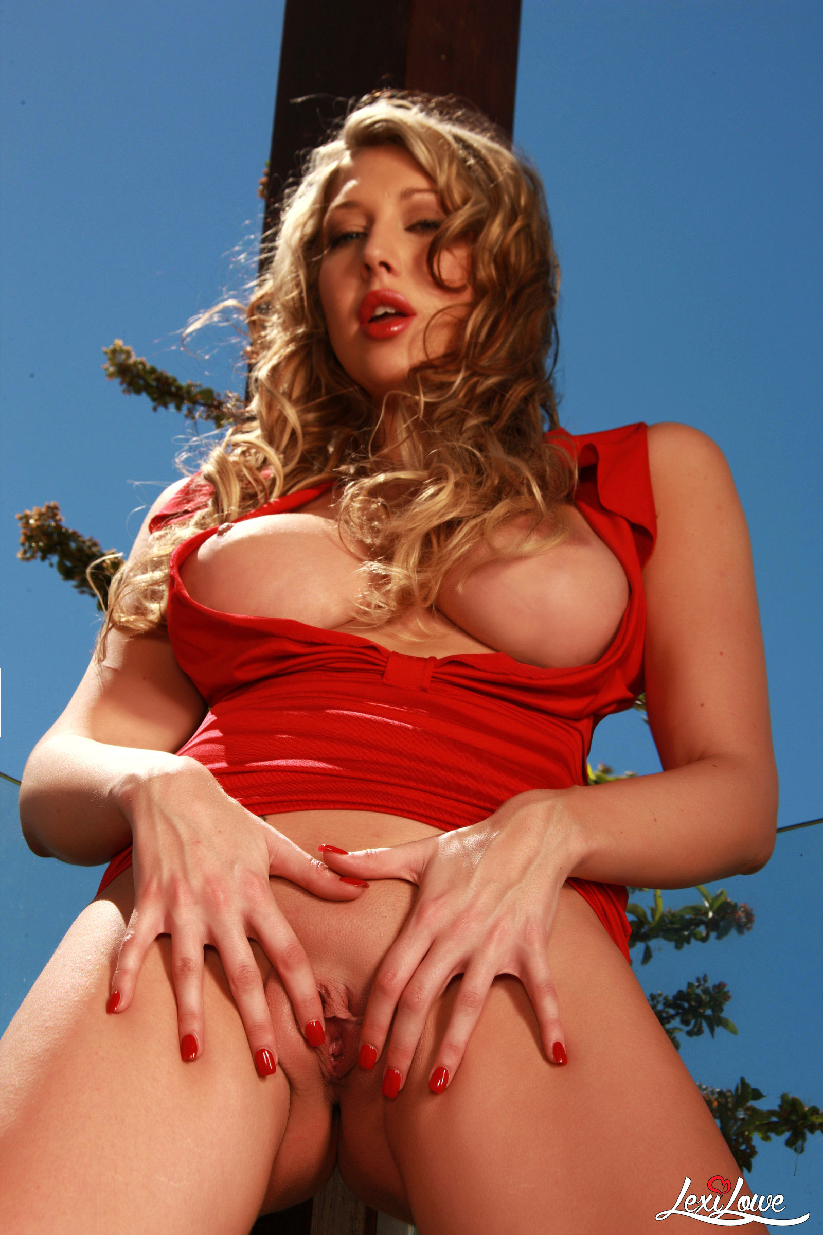 Gorgeous Lexi removes her red dress