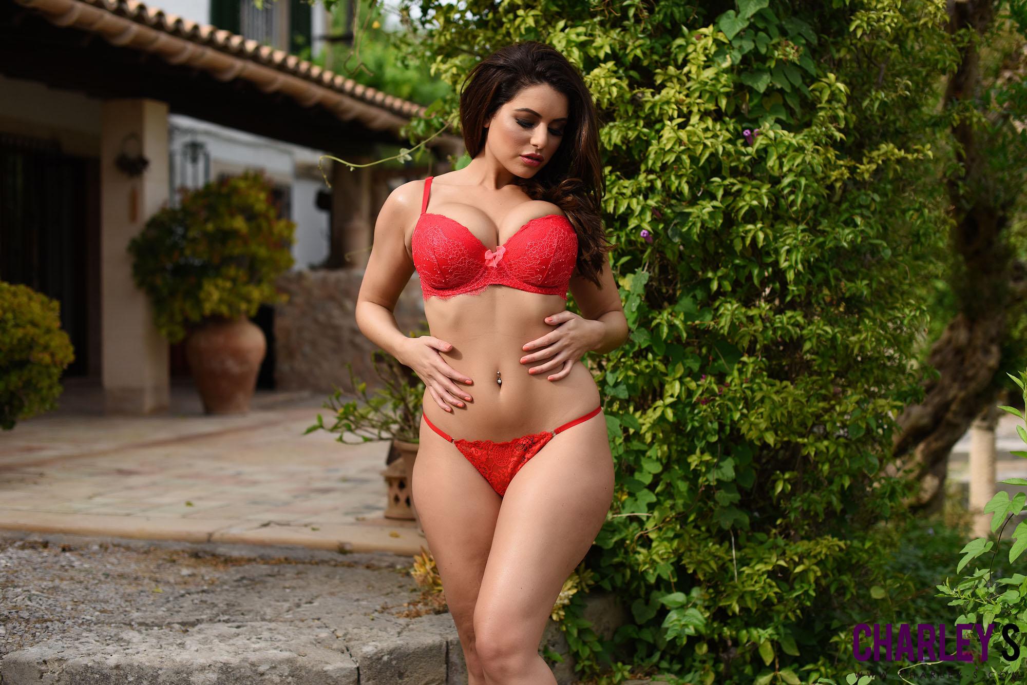 Charlotte Springer lady in red