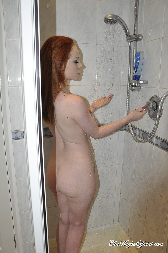 Smoking stunner takes a shower